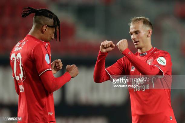 Tyronne Ebuehi of FC Twente , Vaclav Cerny of FC Twente during the Dutch Eredivisie match between Fc Twente v FC Emmen at the De Grolsch Veste on...