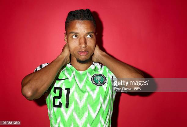 Tyronne Ebuehi of Nigeria poses during the official FIFA World Cup 2018 portrait session on June 12 2018 in Yessentuki Russia