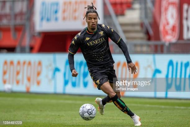 Tyronne Ebuehi of Rangers FC Controls the ball during the Pre-Season Friendly Match between FC Twente and Venezia at De Grolsch Veste on August 4,...