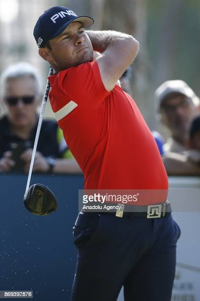 Tyrell Hatton of England competes during the Turkish Airlines Open 2017 Golf Tournament in Antalya Turkey on November 02 2017
