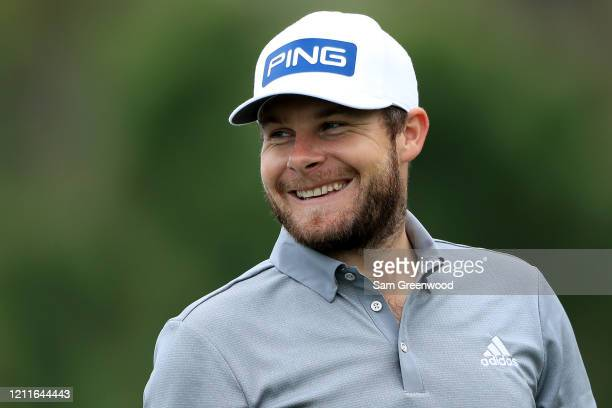 Tyrrell Hatton of England looks on during a practice round prior to The PLAYERS Championship on The Stadium Course at TPC Sawgrass on March 10 2020...