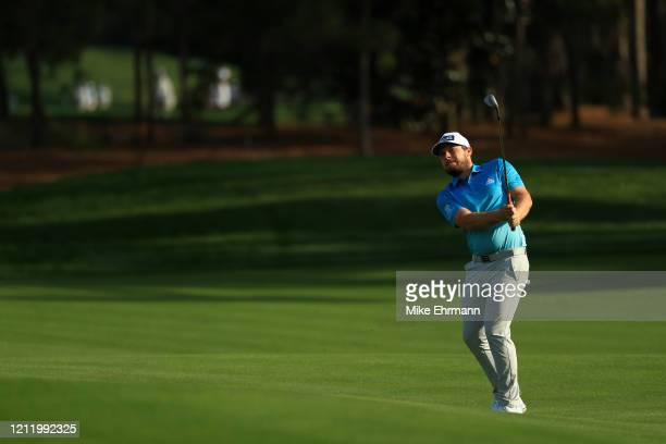 Tyrrell Hatton of England plays a shot on the 11th hole during the first round of The PLAYERS Championship on The Stadium Course at TPC Sawgrass on...