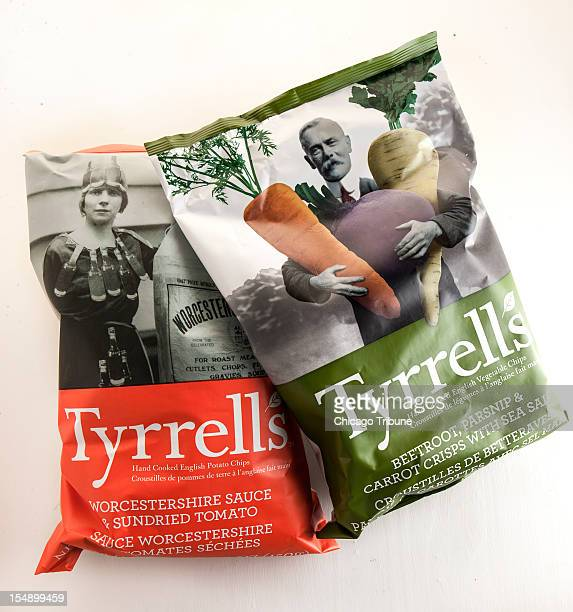 Tyrrell's Hand Cooked English Potato Chips in seven flavors including the sweetsalty Beetroot Parsnip Carrots With Sea Salt as well as the tangy...