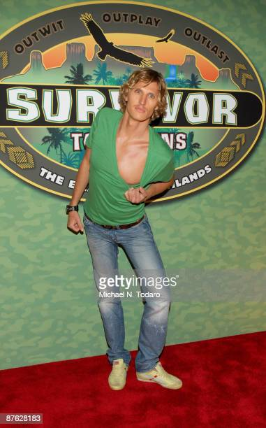 Tyson Apostol attends CBS's Survivor Tocantins The Brazilian Highlands finale at the Ed Sullivan Theater on May 17 2009 in New York City