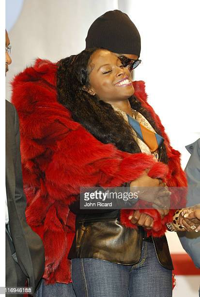 Tyson Beckford and Foxy Brown during Foxy Brown Press Conference at BET Studios in New York New York United States