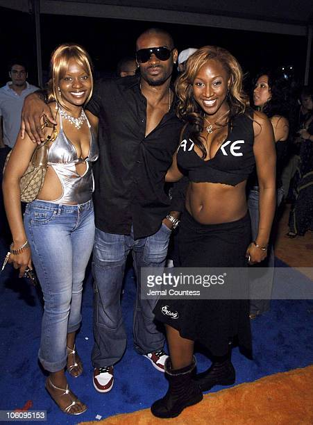 Tyson Beckford and guests during Funkshion Fashion Week Miami Beach Fall 2006 Sean John Front Row at The Tents on Ocean Drive in Miami Beach Florida...