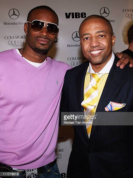 Tyson Beckford and Kevin Liles during 2006 Queen Latifah and Vibe Magazine PreOscar Hollywood Bash Arrivals at Republic in Los Angeles California...