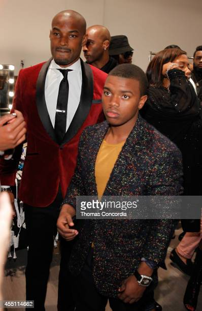 Tyson Beckford and Marc John Jefferies attend Angela Simmons Presents Back To Basics STYLE360 Spring/Summer 2015 Collections on September 9 2014 in...