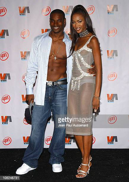 Tyson Beckford and Naomi Campbell during 2003 VIBE Awards - Pressroom at Civic Auditorium in Santa Monica, California, United States.