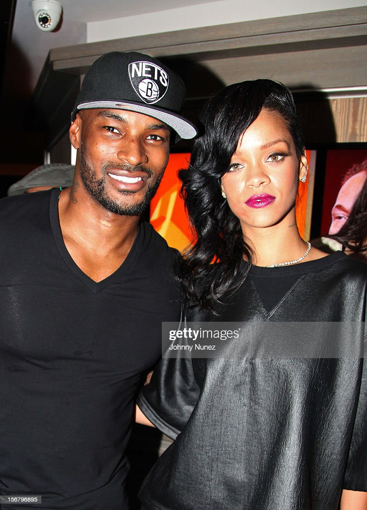 Tyson Beckford and Rihanna attend Rihanna's 'Unapologetic' Record Release Party at 40 / 40 Club on November 20, 2012 in New York City.