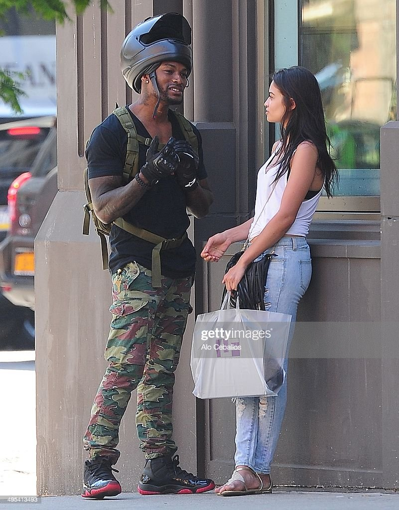 Tyson Beckford and Shanina Shaik are seen in Soho on June 2, 2014 in New York City.