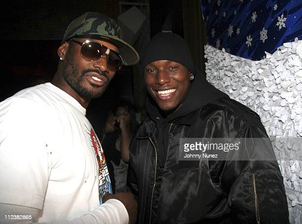 Tyson Beckford and Tyrese during Mary J Blige Album Release Party For 'Break Through' at PM in New York City New York United States