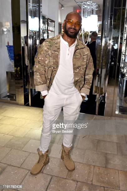 Tyson Beckford attends as Baccarat x Virgil Abloh present 'Crystal Clear' at Baccarat Boutique BBar and Lounge on December 03, 2019 in Miami, Florida.