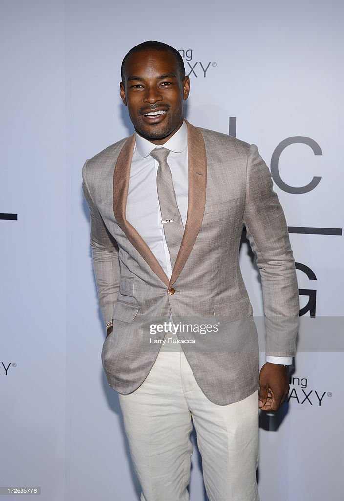 Tyson Beckford attends JAY Z and Samsung Mobile's celebration of the Magna Carta Holy Grail album, available now through a customized app in Google Play and Samsung Apps exclusively for Samsung Galaxy S 4, Galaxy S III and Note II users on July 3, 2013 in Brooklyn, New York.