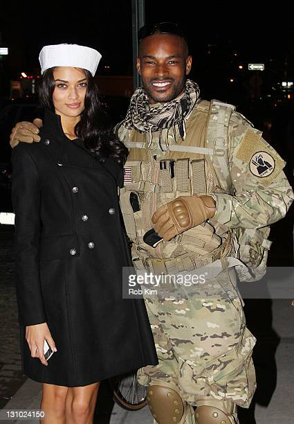 Tyson Beckford attends Miranda Kerr's Halloween party at Catch Roof on October 31 2011 in New York City