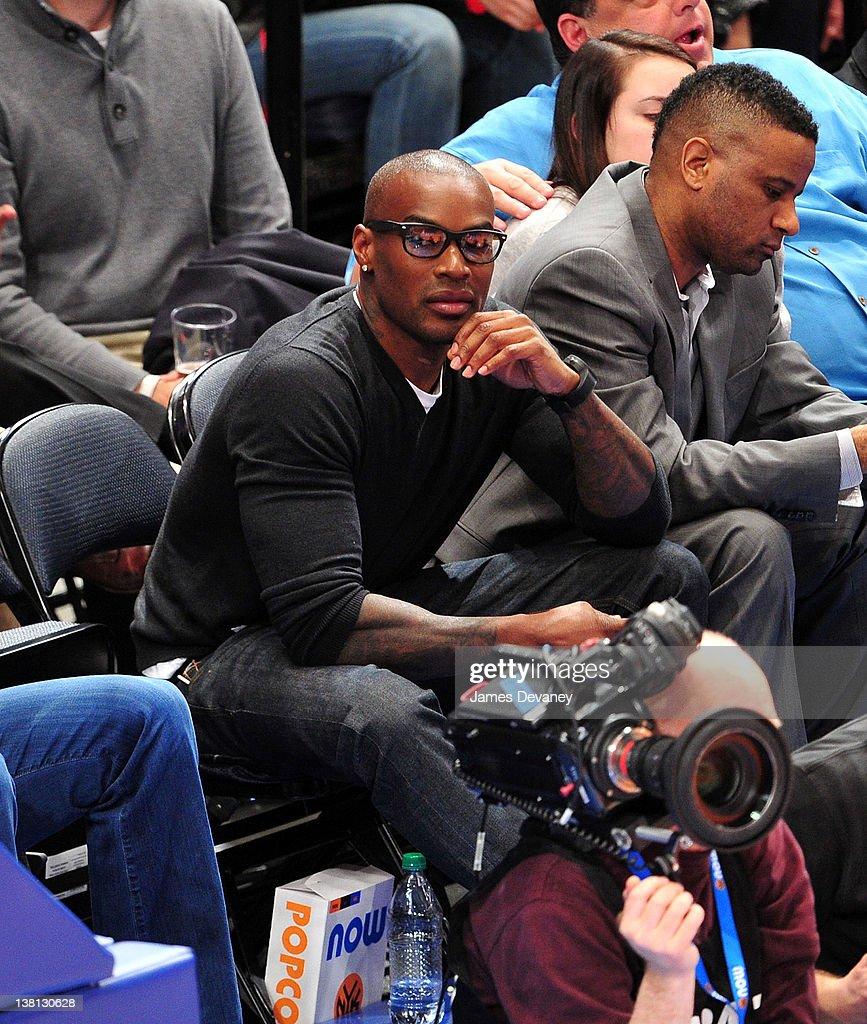 Tyson Beckford attends the Chicago Bulls VS New York Knicks at Madison Square Garden on February 2, 2012 in New York City.