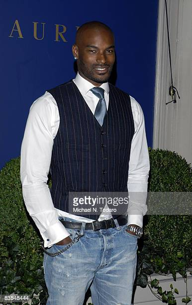 Tyson Beckford attends the Lebron James Family Foundation Benefit for an evening of cocktails and private shopping at the Ralph Lauren Mansion on...