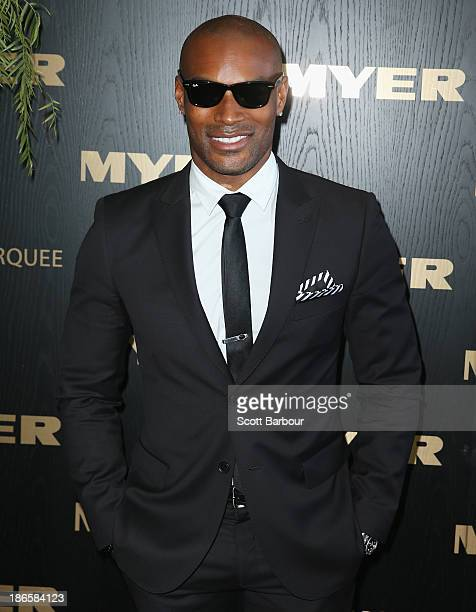 Tyson Beckford attends the Myer marquee on Victoria Derby Day at Flemington Racecourse on November 2 2013 in Melbourne Australia