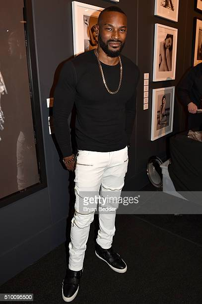 Tyson Beckford attends the Pirelli Event during Day 3 of New York Fashion Week The Shows at Skylight at Moynihan Station on February 13 2016 in New...