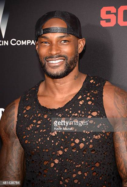 Tyson Beckford attends the 'Southpaw' New York premiere at AMC Loews Lincoln Square on July 20 2015 in New York City