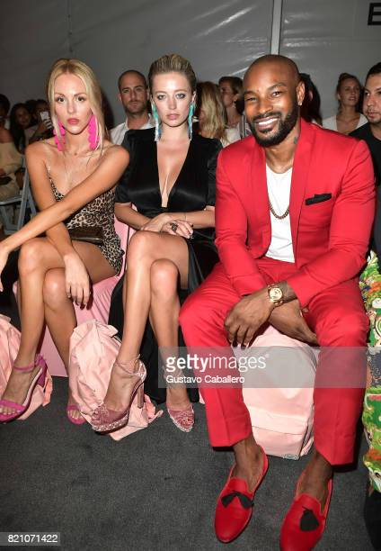 Tyson Beckford attends the SWIMMIAMI Frankie's Bikinis 2018 Collection fashion show at the SWIMMIAMI tent on July 22 2017 in Miami Beach Florida
