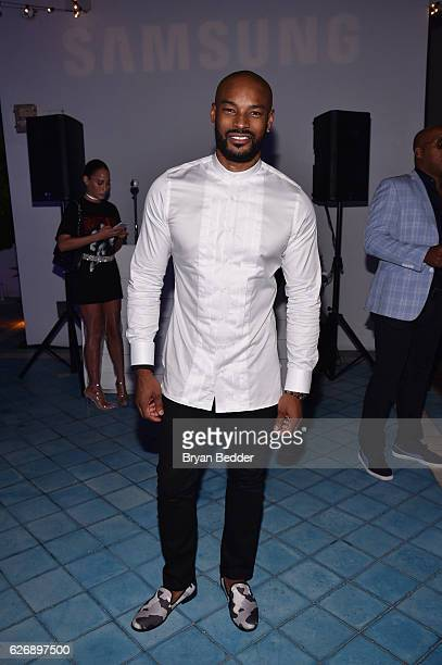 Tyson Beckford attendsÊPrabal GurungÕs Samsung Gear 360 Exhibition at Ocho at Soho Beach House during Art Basel on November 30 2016 in Miami Beach...