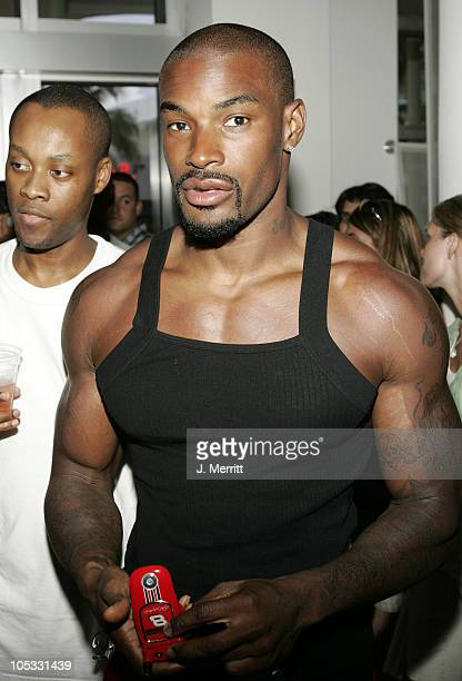 Tyson Beckford during Billboard Magazine and A Diamond is Forever Host 'Millions in Diamonds on Ice' at Sagamore Hotel Pool in Miami Florida United...