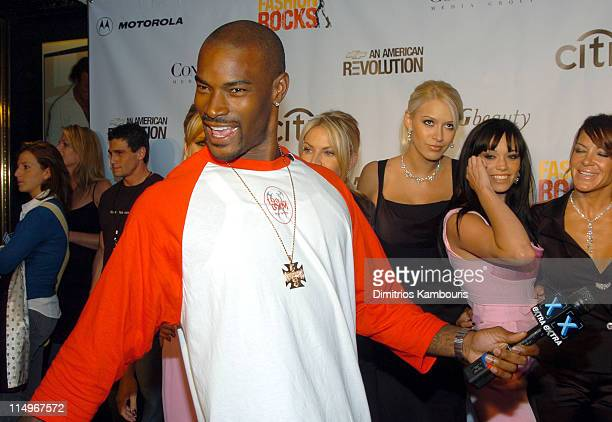 Tyson Beckford during Conde Nast Media Group Presents Fashion Rocks 2004 Arrivals at Radio City Music Hall in New York City New York United States