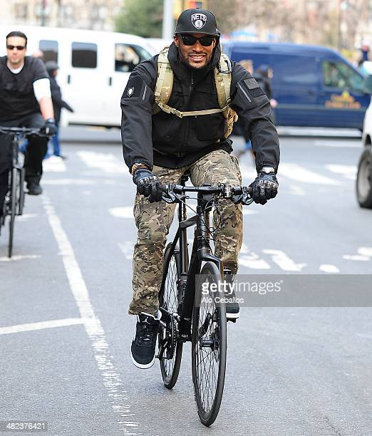 Tyson Beckford is seen in the West Village on April 3 2014 in New York City