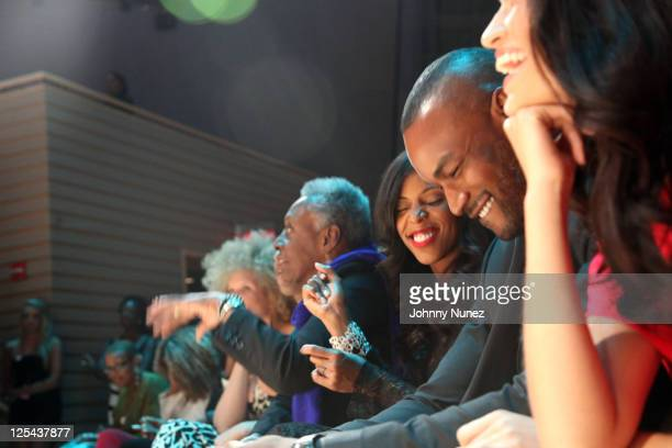 Tyson Beckford June Ambrose Bethann Hardison Marc Chamblin and Michaela Angela Davis attend Harlem's Fashion Row at Jazz at Lincoln Center on...