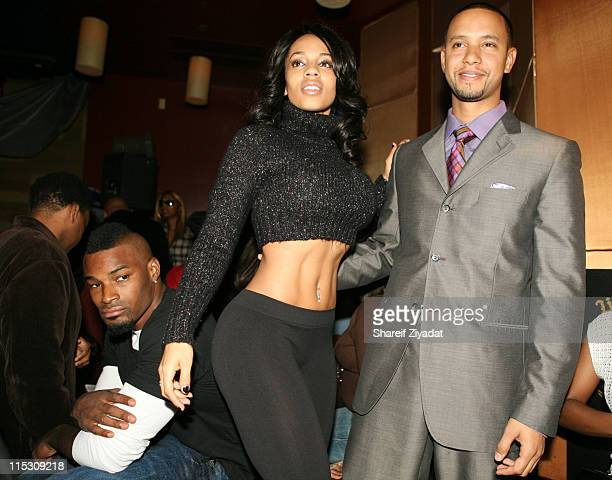 Tyson Beckford Melyssa Ford and Lil X during Lil X and Kenny Burns Holloween Birthday Party at Lotus in New York City New York United States
