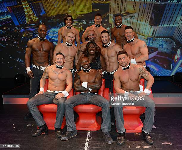 Tyson Beckford performs with Chippendales at the Rio on May 1 2015 in Las Vegas Nevada