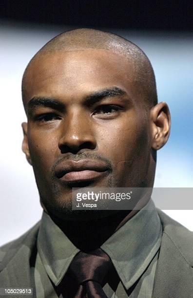 Tyson Beckford wearing Sean John Fall 2003 Fashion