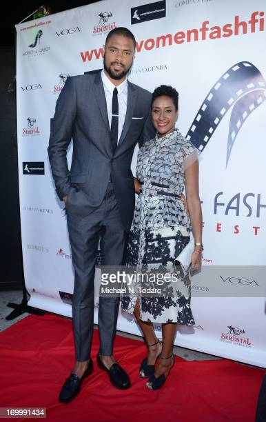 Tyson Chandler and Kimberly Chandler attend the 2013 Women Fashion FilmFest Launch Party at Bobby's Nightclub on June 5 2013 in New York City
