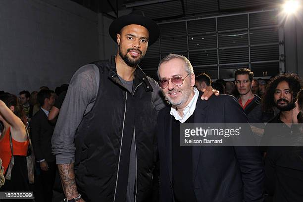 Tyson Chandler of the New York Knicks and Jim Moore GQ creative director attend The Best New Menswear Designers In America 2012 Party presented by GQ...