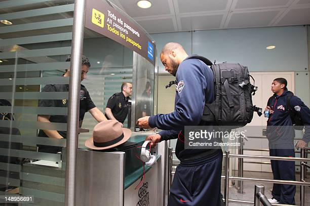 Tyson Chandler of the US Men's National team is arriving to Barcelona with team USA on July 20 2012 at Barcelona Airport in Barcelona Spain NOTE TO...