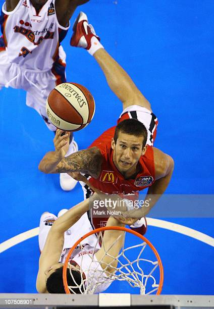Tyson Demos of the Hawks drives to the basket during the round nine NBL match between the Wollongon Hawks and the Adelaide 36ers at Wollongong...