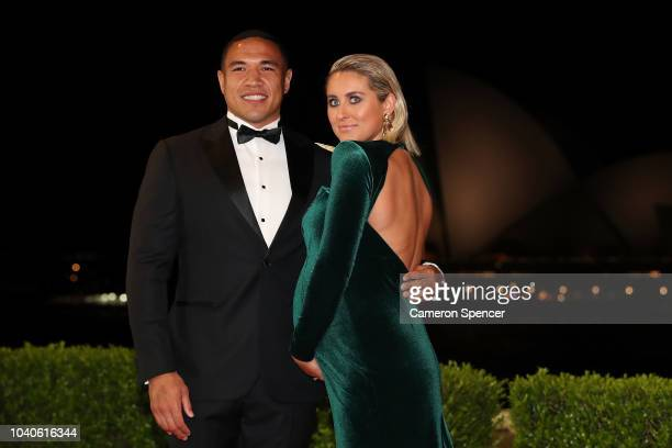 Tyson Frizell and Samantha Frizell arrive at the 2018 Dally M Awards at Overseas Passenger Terminal on September 26 2018 in Sydney Australia