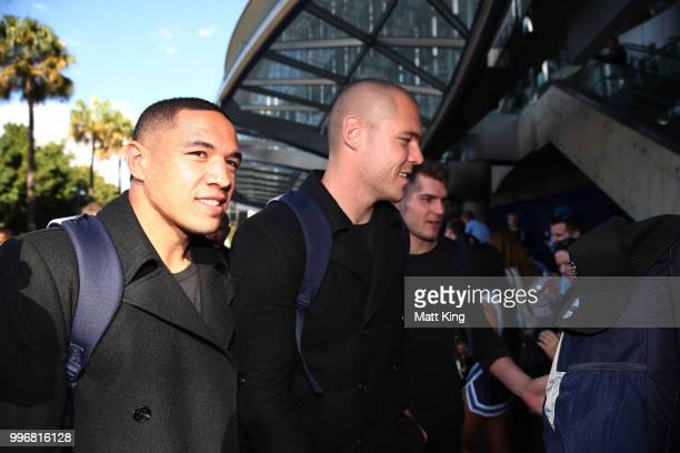 Tyson Frizell arrives at a New South Wales Blues public reception after winning the 2018 State of Origin series at The Star on July 12 2018 in Sydney...