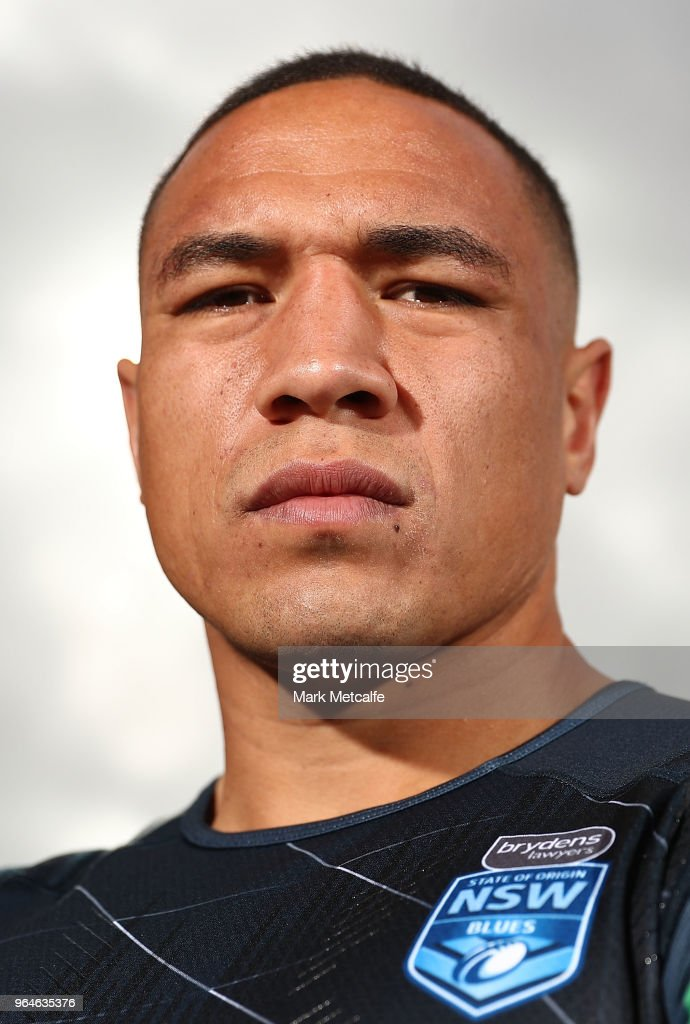 Tyson Frizell poses before a New South Wales State of Origin training session at Coogee Oval on June 1, 2018 in Sydney, Australia.