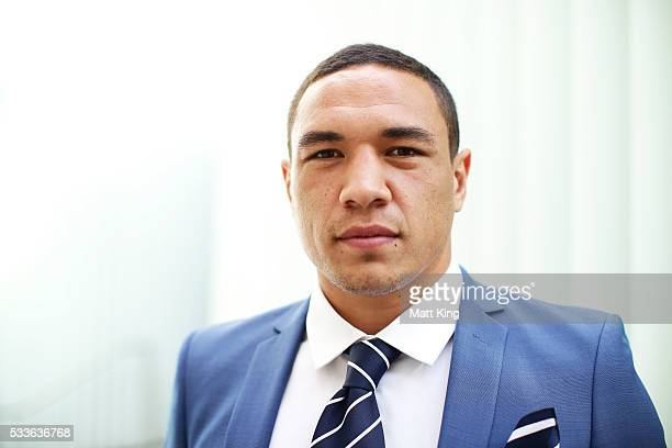 Tyson Frizell poses during the NSW Blues State of Origin team announcement at The Star on May 23 2016 in Sydney Australia