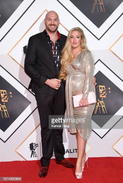 Tyson Fury and Paris Fury attend the 2018 BBC Sports Personality Of The Year at The Vox Conference Centre on December 15, 2018 in Birmingham, England.