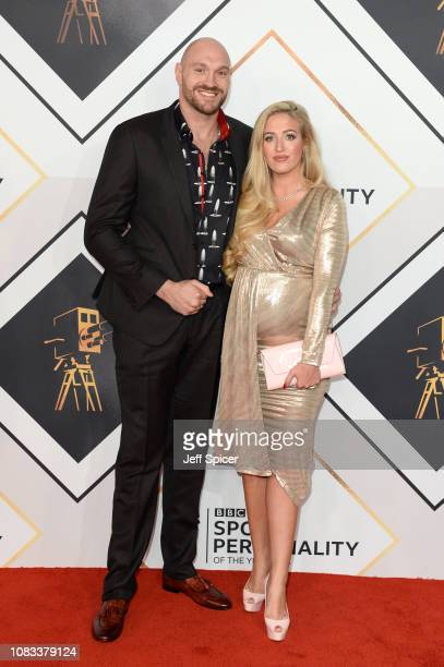 Tyson Fury and Paris Fury attend the 2018 BBC Sports Personality Of The Year at The Vox Conference Centre on December 16, 2018 in Birmingham, England.