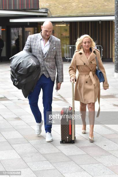 Tyson Fury and Paris Fury seen at the ITV Studios on March 04 2020 in London England