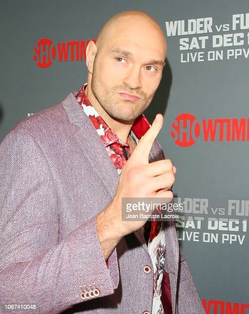 Tyson Fury attends the Heavyweight Championship of The World 'Wilder vs Fury' Premiere at Staples Center on December 01 2018 in Los Angeles California
