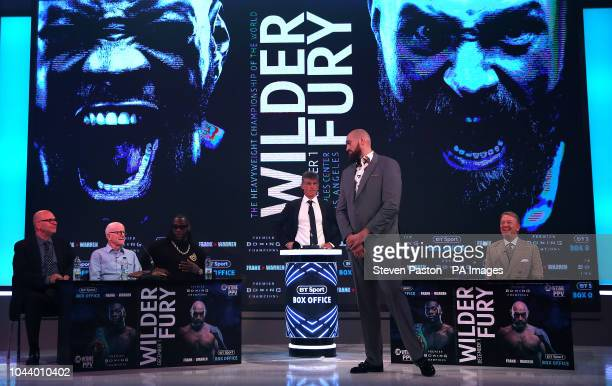 Tyson Fury during a press conference at BT Sport Studio London PRESS ASSOCIATION Photo Picture date Monday October 1 2018 See PA story BOXING Fury...