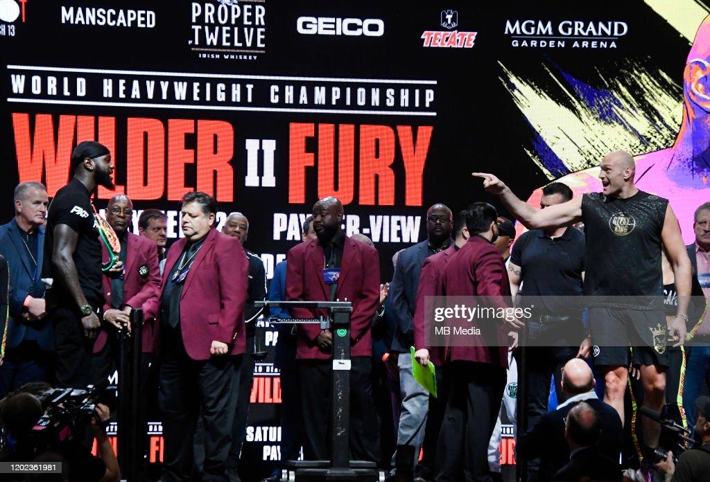 Deontay Wilder v Tyson Fury - Weigh-In : News Photo