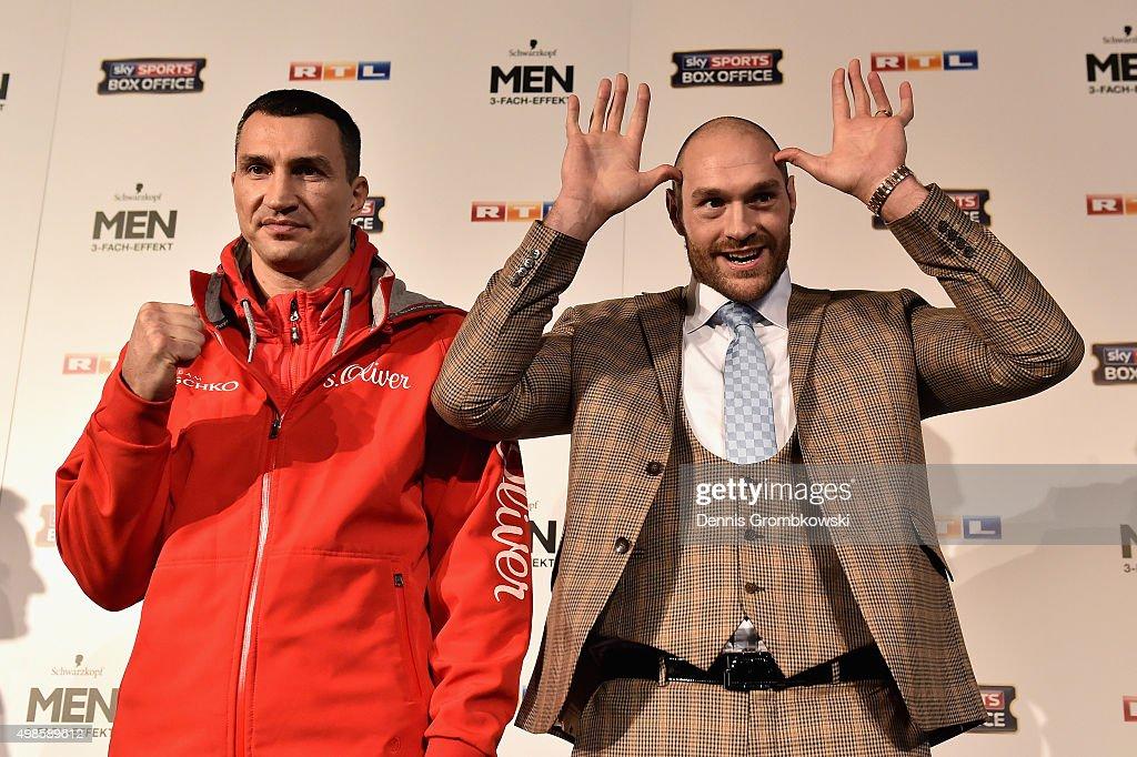 Wladimir Klitschko v Tyson Fury - Press Conference : News Photo