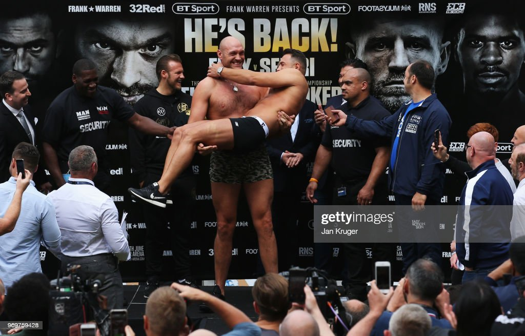Tyson Fury & Sefer Seferi Weigh-in : News Photo
