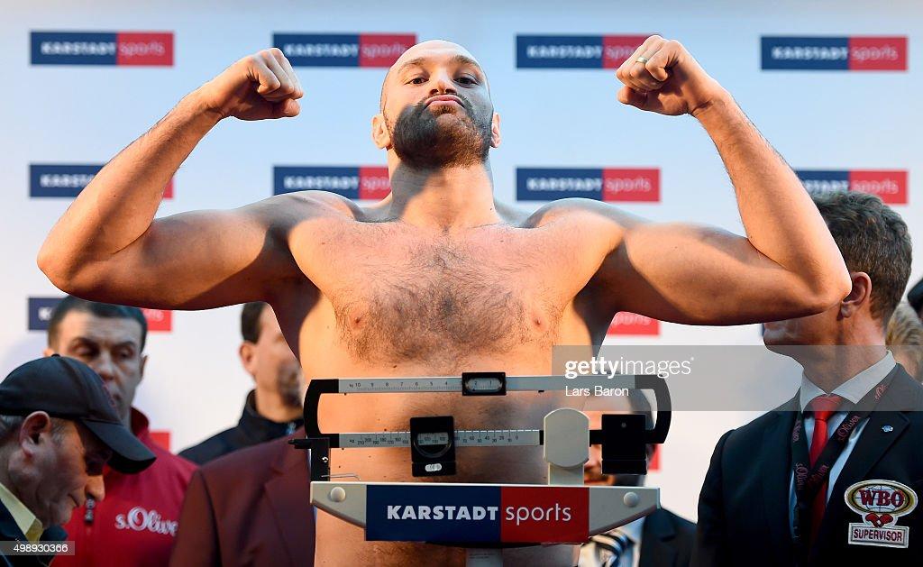 Wladimir Klitschko v Tyson Fury - Weigh In